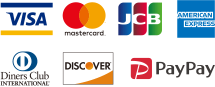 VISA mastercard JCB AMERICAN EXPRESS DinersClub DISCOVER PayPay